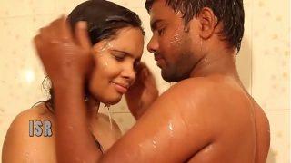 ANJALI (Telugu) as House Wife, Husband – Hot Wet Bathing Romance in BATHROOM