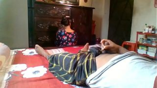 Flashing on my Maid Real indian maid hot pussy fuck