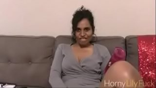 Indian Porn Star Horny Lily and her favorite toy Masturbating With Dirty Sex Chat In Tamil