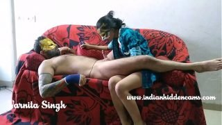 Skinny Indian Teen From Mumbai Licking Her Lover Cock With Chocolate