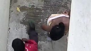 Young telugu bathing
